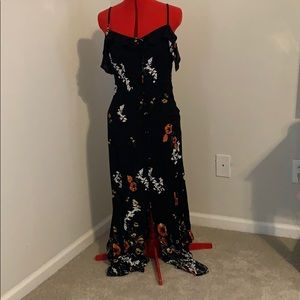 Floor length floral dress